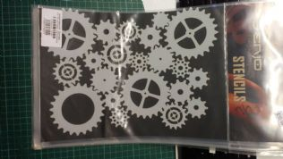 Stencil/Template/Shape Guide  'Large STEAMPUNK Cogs'  A4 size   was £15 NOW £9.00 inc postage